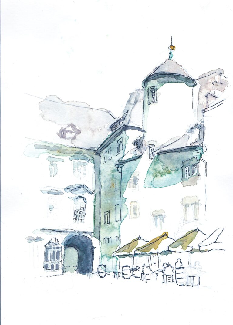 Ben Schubert - urban sketching 7