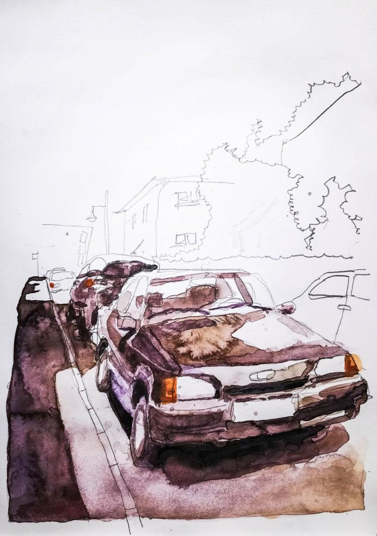 Ford Escort in Braun